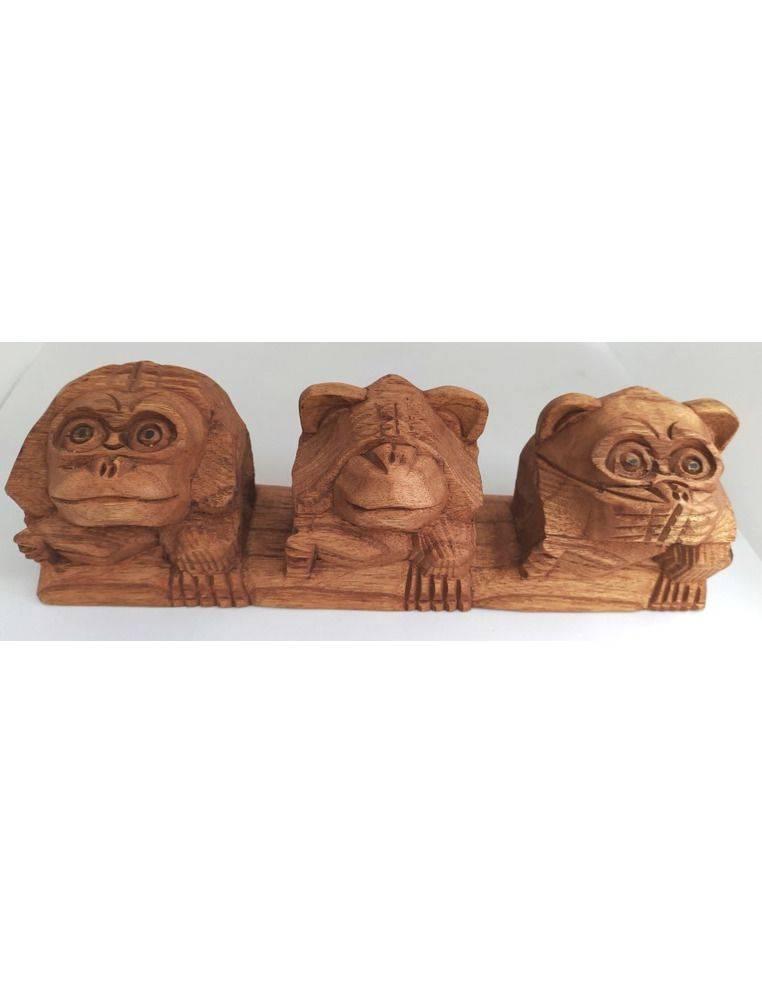 Monos tallados en madera Origen: Indonesia