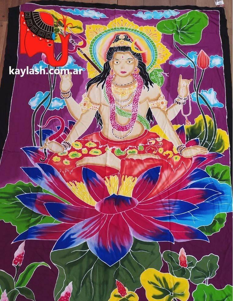 Tela cortina pintada a mano Origen: India