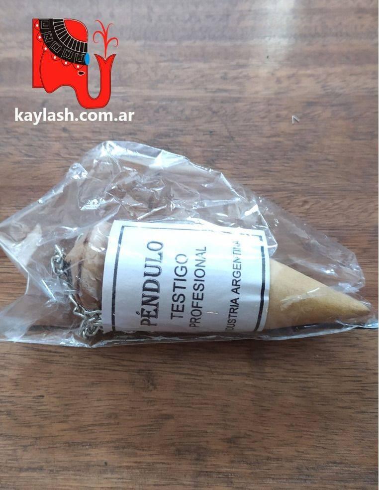 Péndulo en madera para Radiestesia o testeo energético
