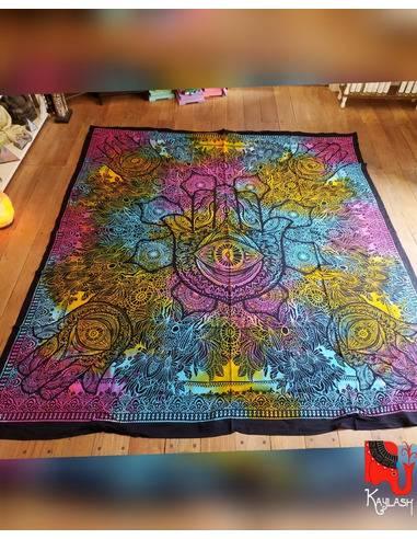Manta, tapiz o mantel, 2 1/2 plazas, 220x240cm Origen: India
