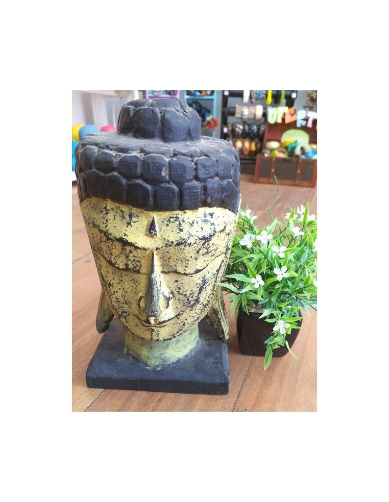 Busto de madera cabeza de buda Origen: Indonesia