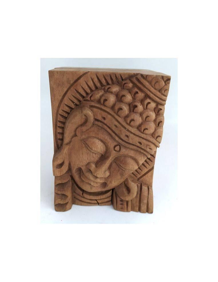 Caja de madera suar tallada Origen: Indonesia