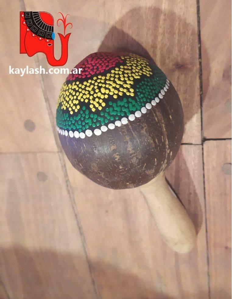 Maraca coco pintado